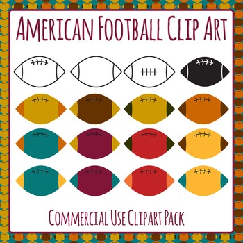 American Football / Grid Iron Balls Commercial Use Clip Art