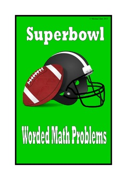 American Football Superbowl math worded problems