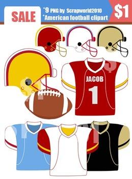 American Football clip art set 9 png