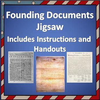 U.S. Founding Documents Jigsaw - Instructions & Handout