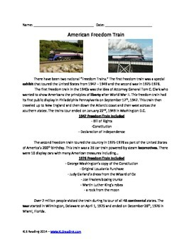 American Freedom Train - Review Article and activities