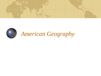 American Geography PPT