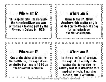 American Geography Task Card Set - 200 Cards! #historygives