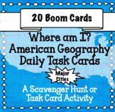 American Geography - The 20 Largest Cities in America Boom Cards
