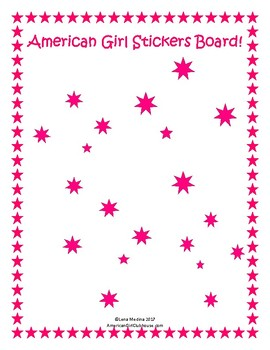 American Girl Clubhouse Printable Sticker Unit