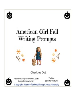 American Girl Doll Fall Writing Prompts Packet