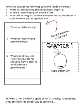 American Girl Felicity Learns a Lesson (book 2) Unit Study with Lapbook