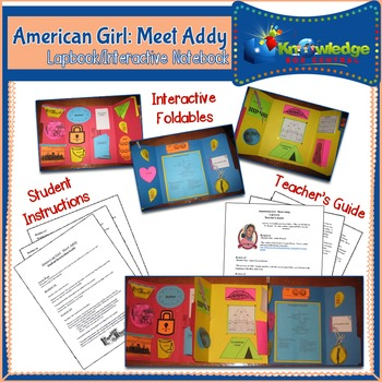 American Girl: Meet Addy Lapbook / Interactive Notebook