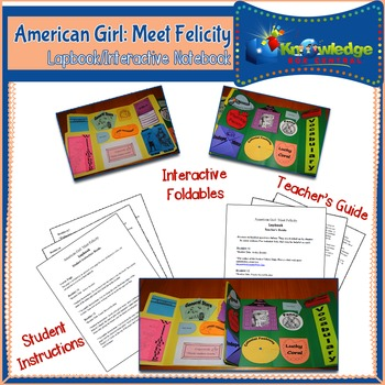 American Girl: Meet Felicity Lapbook / Interactive Notebook