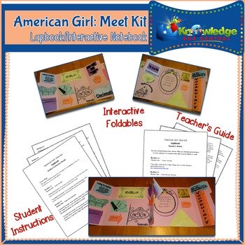 American Girl: Meet Kit Lapbook / Interactive Notebook