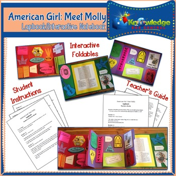 American Girl: Meet Molly Lapbook / Interactive Notebook