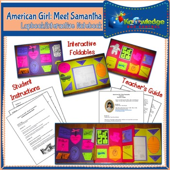 American Girl: Meet Samantha Lapbook / Interactive Notebook