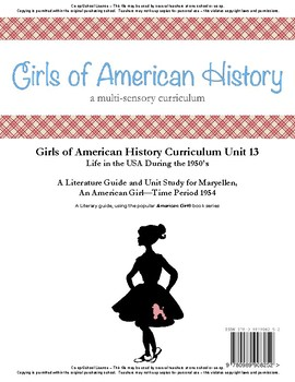 American Girl Unit 13 1954 Life in the USA 1950's-Maryellen-Co-op/School License