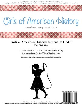 American Girl Unit 5 1864 Civil War-Addy® - Co-op/School License