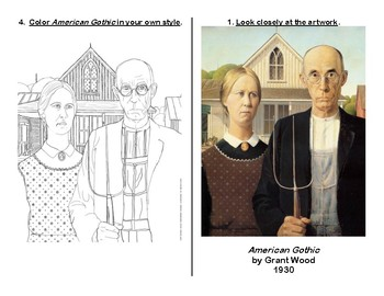 American Gothic Critique worksheet