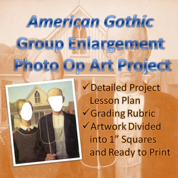 American Gothic Group Enlargement Photo Op Art Project