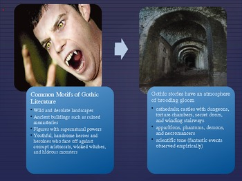 gothic & southern gothic literature information power point ppt, Powerpoint templates