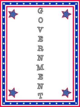 American Government Acrostic Poem Poetry Frame