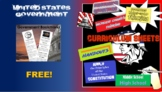 American Government Bill of Rights -  Bookmarks of Information!