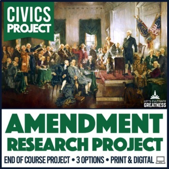 American Government / Civics Constitutional Issues Research Paper Project