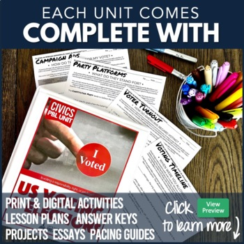 American Government / Civics Course Mega Bundle