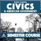 Civics and Government Full Course Thematic Inquiry PBL Print & Digital