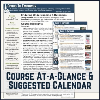 American Government / Civics Course Overview & Calendar