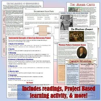 American Government & Civics Unit 2: Foundations Bundle