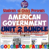 American Government & Civics Unit 2: Foundations Bundle