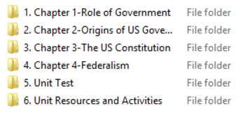 American Government & Civics Unit BUNDLE-Foundations of Government
