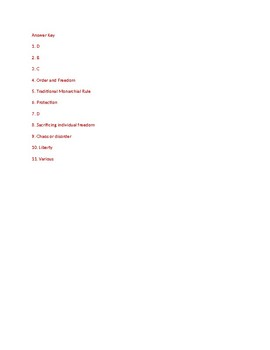 Informational Text - American Government: Democratic Values (no prep/sub plan)
