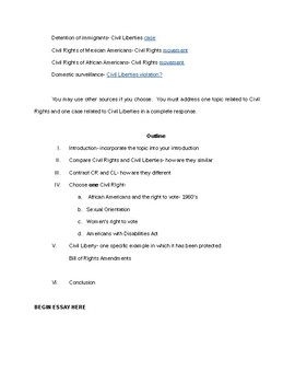 Civil Rights and Civil Liberties - Free Essay Example   blogger.com