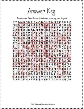 American Government Activity: Forming a New Government:  Government Word Search
