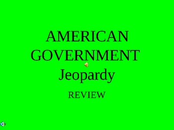 American Government Jeopardy