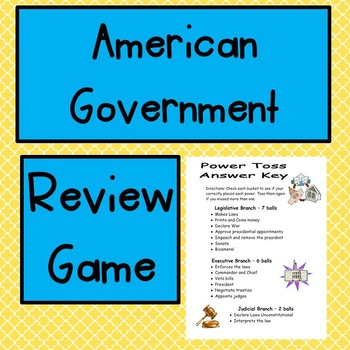 American Government Review Game