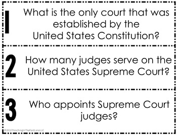 American Government: Supreme Court Fan & Pick {U.S. History}