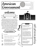 American Government Syllabus - Completely Editable now in