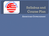 Government Syllabus and Course Plan - outline of every day of the semester
