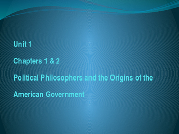 American Government  Unit 1