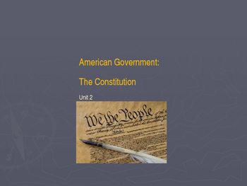 American Government Unit 2 Power Point