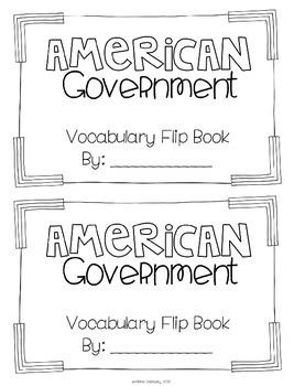 American Government [Vocabulary Flip Books]