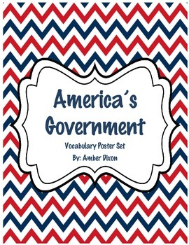 American Government Vocabulary Posters