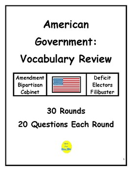 American Government Vocabulary Review