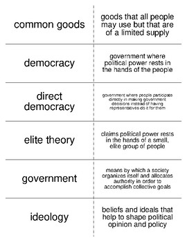 American Government and Civic Engagement Flash Cards for American Government