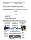 American, Government, and Social Issues / Problems Project worksheet