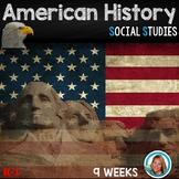 American HISTORY Kindergarten and 1st Grade  9 WEEKS