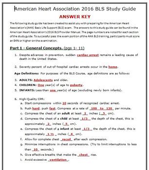 American Heart Association 2015 Basic Life Suport (BLS) Exam Study Guide