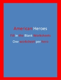 American Hero Fill in the Blank Work Sheets. Paul Revere,
