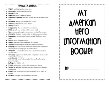 American Hero Information Booklet