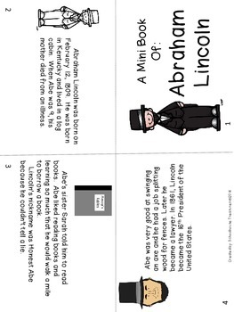 American Hero Mini Book: Abraham Lincoln